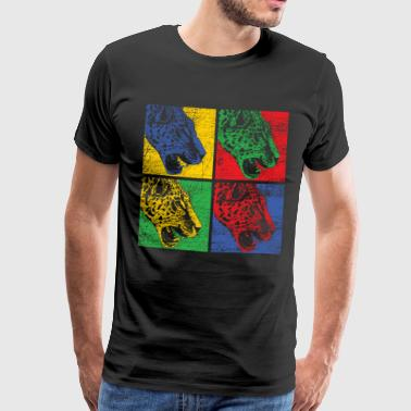 Pop Art Leopard - Premium T-skjorte for menn