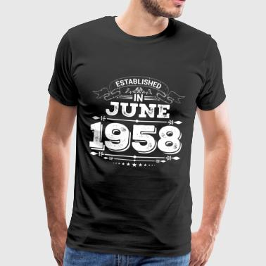 Established in June 1958 - Men's Premium T-Shirt