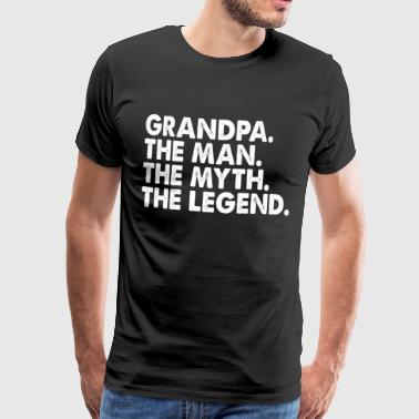 Super Grandpa.The Man.The Myte. Legenden.Ildersdag - Premium T-skjorte for menn