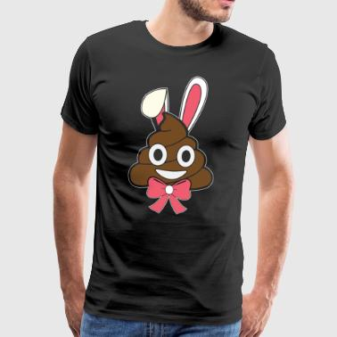Poop emoticon easter bunny Happy easter gift bunny - Men's Premium T-Shirt