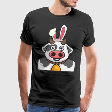 Cow Farmer Easter Bunny Happy Easter Gift Bunny - Men's Premium T-Shirt