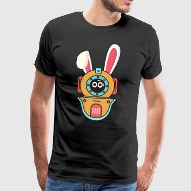 Diving diver Easter bunny Easter gift bunny - Men's Premium T-Shirt