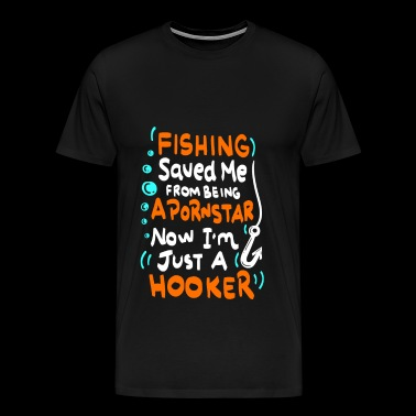 Fishing saved me / Fishing saved me - Men's Premium T-Shirt