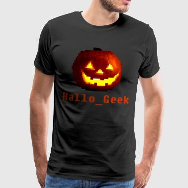Gaming Halloween - Hallo_Geek - Mannen Premium T-shirt