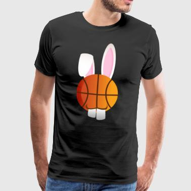 Basketball basketball player Easter Bunny Happy Easter - Men's Premium T-Shirt