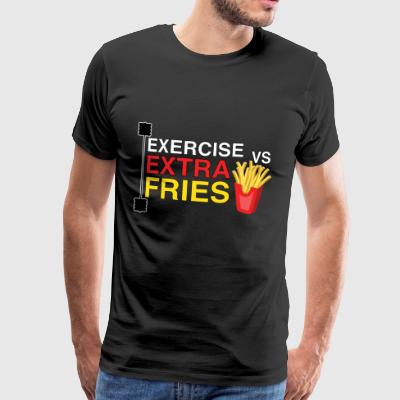 Exercise vs extra fries | the eternal fight! - Men's Premium T-Shirt