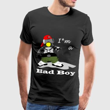 Bad Boy Penguin - Premium T-skjorte for menn