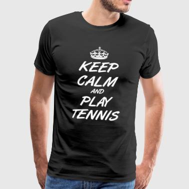 Tennis T-Shirt - Tennis Player - Men's Premium T-Shirt