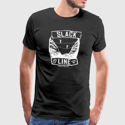 Slackline World - Mannen Premium T-shirt