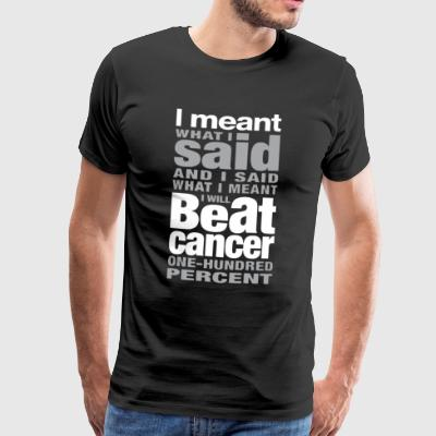 Beat Cancer Shirt - Herre premium T-shirt