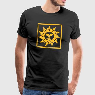 085 orange sun - Premium-T-shirt herr
