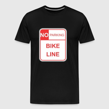 Road sign no parking bike line - Men's Premium T-Shirt