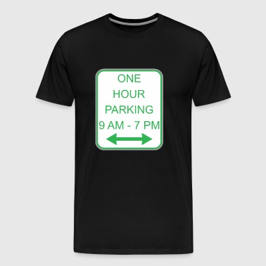 Road sign one hour parking - Men's Premium T-Shirt