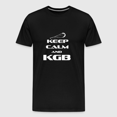 Kitesurfing - KEEP CALM AND KGB - Herre premium T-shirt