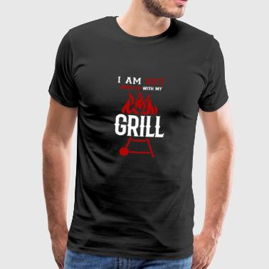 I'm hot with my BBQ Barbecue BBQ Brater - Men's Premium T-Shirt