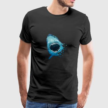 HAI ATTACKS GIFT ANGLER SEA FISH HAWAII - Herre premium T-shirt
