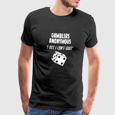 Poker - Terning - Kortspill - Gamble - Premium T-skjorte for menn