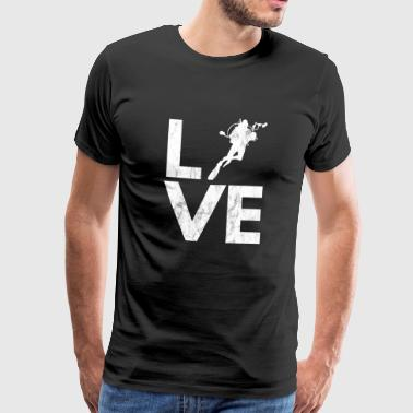 Dykning - Scuba Diving - Diver - Love - Herre premium T-shirt