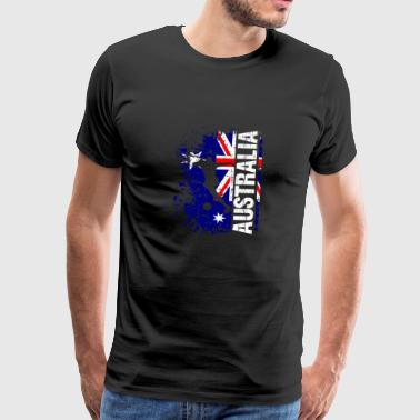 Australië Football National Team - Gift - Mannen Premium T-shirt