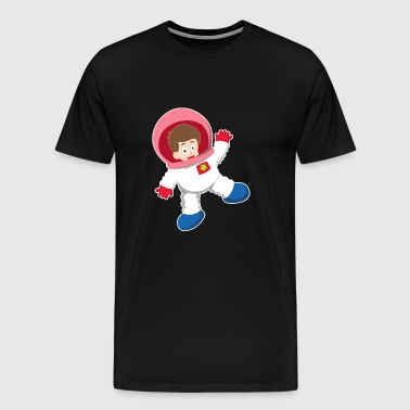 Cartoon boy astronaut cool gift idea - Men's Premium T-Shirt