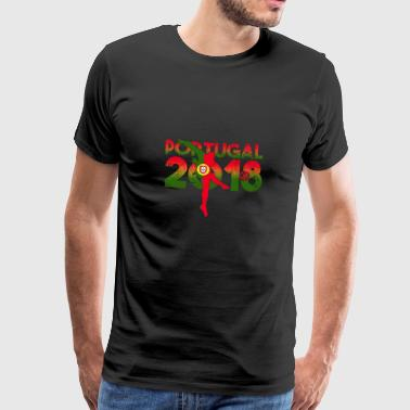 Portugal Flag Soccer Football Gift Shirt - Premium T-skjorte for menn
