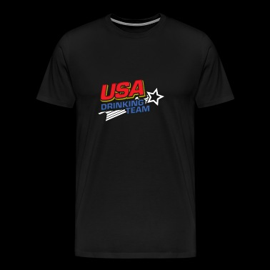 USA Drinking Team Beer Party Tee Shirt Gift - Men's Premium T-Shirt
