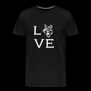 Elo dog Love - Mannen Premium T-shirt