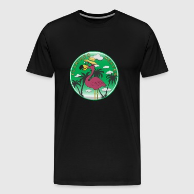 Flamingo Heaven - T-shirt Premium Homme