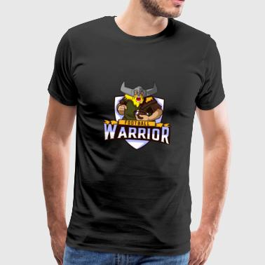 Football Warrior Vikings - Mannen Premium T-shirt