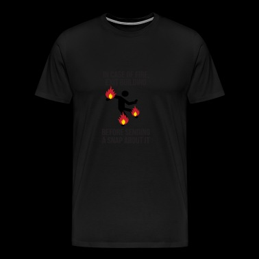 Fire instruction. Fire instructions - Men's Premium T-Shirt