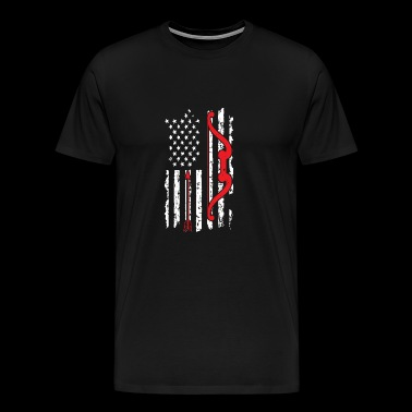 American Flag Hunting - Men's Premium T-Shirt