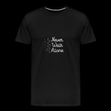 Cool Never Walk Alone - Foot print design - Men's Premium T-Shirt