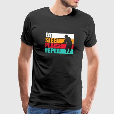 Eat. Sleep. Baseball. Repeat. - Retro - Men's Premium T-Shirt