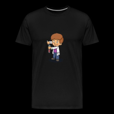 Scientist experiment boy lab gift idea - Men's Premium T-Shirt