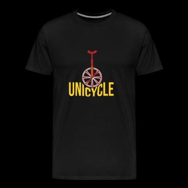 Unicycle unicycle yellow cool gift idea - Men's Premium T-Shirt