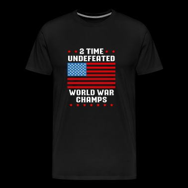 2 time undefeated world was champs - Men's Premium T-Shirt