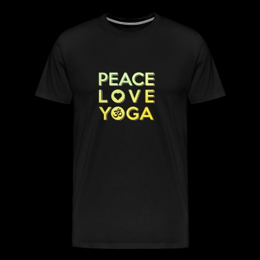 Yoga Peace Meditation Hatha Tantra Love - Men's Premium T-Shirt