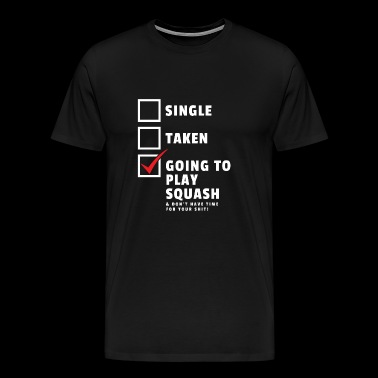 Squash Shirt Gift Squash Player Singel - Men's Premium T-Shirt