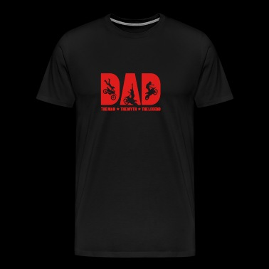 Dad The Man The Mythe The Legend Gift voor papa - Mannen Premium T-shirt