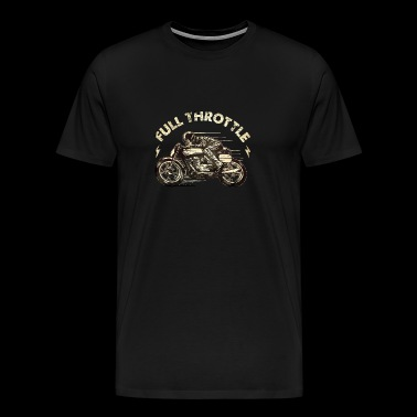 Biker Shirt Full throttle retro racer klassisk colo - Herre premium T-shirt