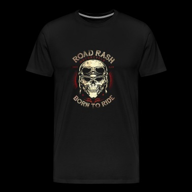 Biker Shirt Road Rash Born to Ride Ontwerp Red Old - Mannen Premium T-shirt