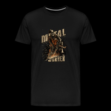 Biker Shirt Racer Tuner Mechanics Metal Worker - Mannen Premium T-shirt