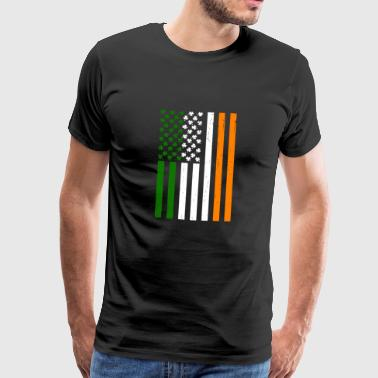 Irish American flag - Men's Premium T-Shirt