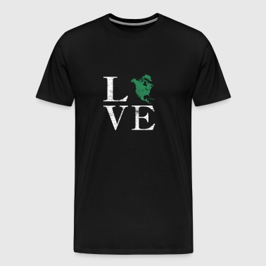 Love Continent Nordamerika World Travel Gift - Herre premium T-shirt