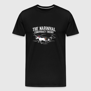 The Narwhal Conspiracy Theory - Men's Premium T-Shirt