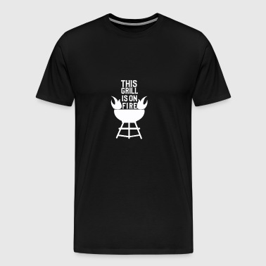 This BBQ is on fire - BBQ BBQ Gift - Men's Premium T-Shirt