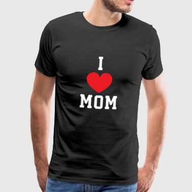 I Love Mom Design - Mannen Premium T-shirt