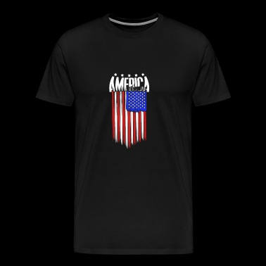 Amerika Independence Day flag USA drømme - Herre premium T-shirt