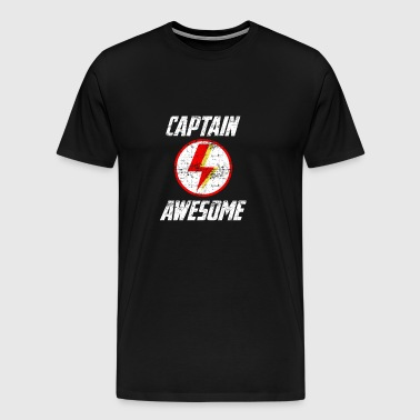 Captain Awesome Vintage Design - Men's Premium T-Shirt