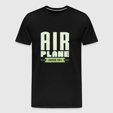 Airplane pilot vacation travel pilot - Men's Premium T-Shirt